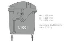 Grafik Große Restmülltonne 1100 Liter
