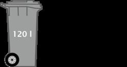 Grafik kleine Restmülltonne 120 Liter