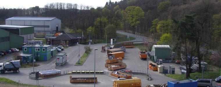 Blick auf den Wertstoffhof in Alt-Golm