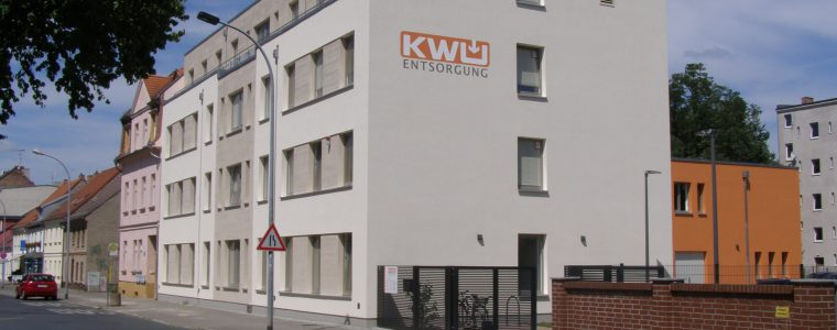 Blick auf das KWU Verwaltungsgebäude in Fürstenwalde, Frankfurter Straße 81, 15517 Fürstenwalde