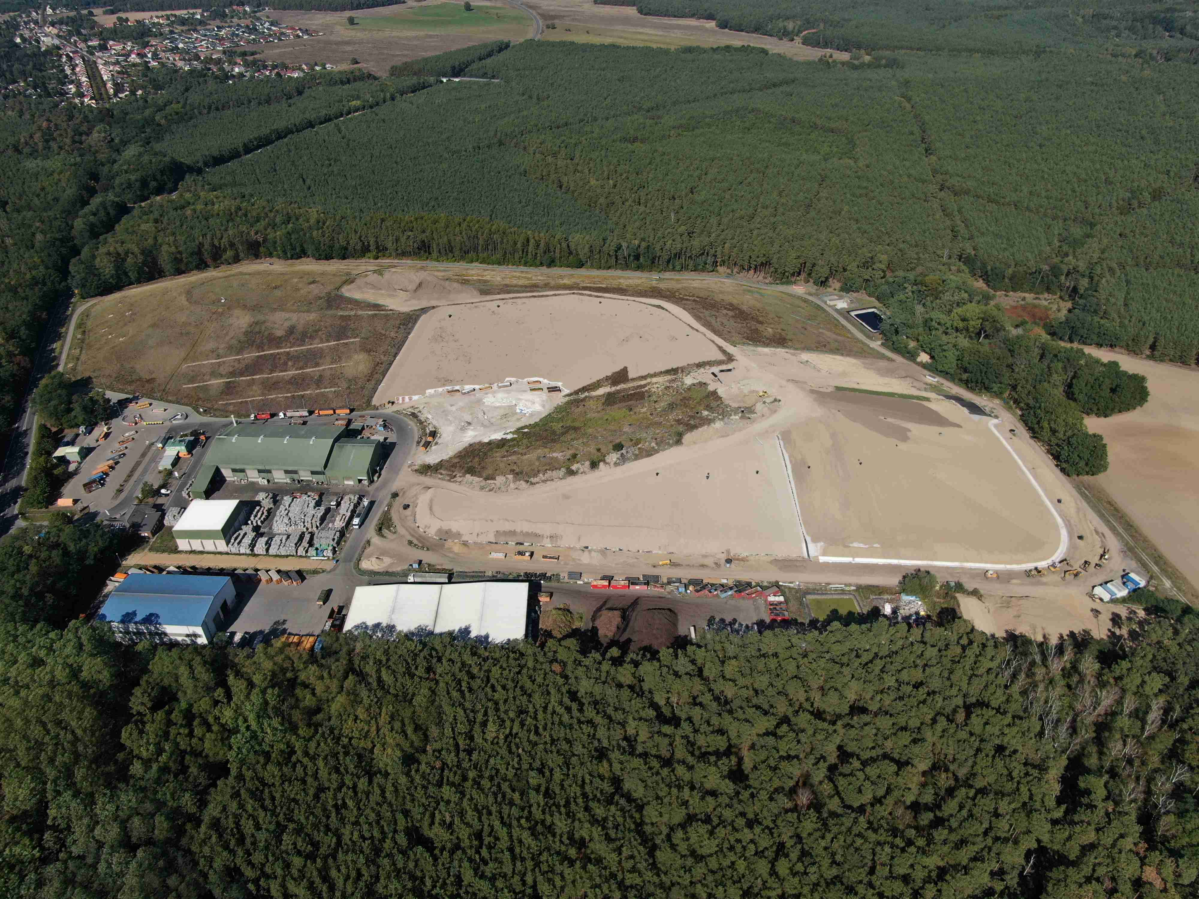 """Luftaufnahme der Deponie """"Alte Ziegelei"""""""