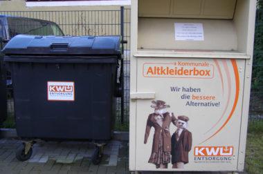 Altkleider-Container abgezogen
