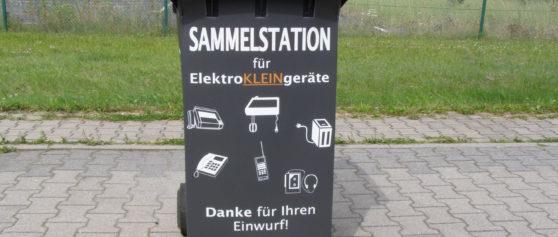 Abzug der E-Schrott-Tonnen für Elektrokleingeräte