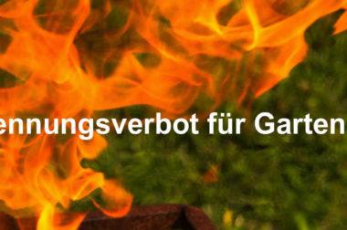 Gartenabfälle und Laub nicht verbrennen!