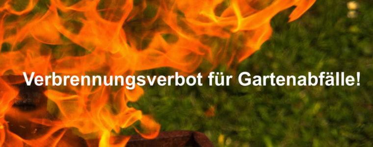 Beitragsbild Verbrennungsverbot von Gartenabfällen